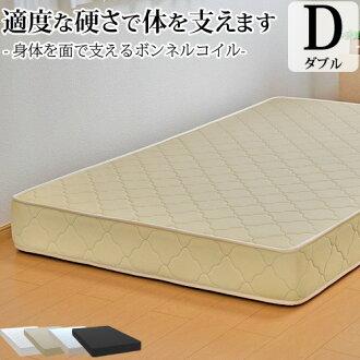 供保证床使用垫子双波恩法兰绒线圈(宽140cm)日本制造3年的垫子床垫子