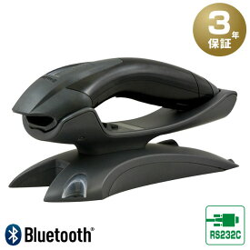 【3年保証】 Bluetoothバーコードリーダー Voyager 1202gB-Rセット 黒 充電無線クレードルセット(RS232Cコネクタ) RS232C接続用ACアダプター付 Honeywell ハネウェル