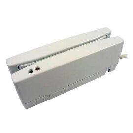 JIS1/JIS2両面読取対応磁気カードリーダ,デュアルヘッド,ホワイト,USB-HIDI/F