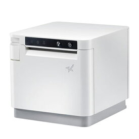 58mm 80mm幅対応サーマルプリンター Bluetooth対応 mC-Print3シリーズ 多機能レシートプリンター ACアダプター付 ホワイト MCP31LB-WT-JP スター精密
