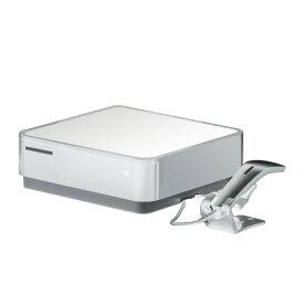 スター精密 POP10 サーマルプリンター(キャッシュドロア内蔵)バーコードリーダー付 1年保証 POP10-B1-WHT-JP MFi取得