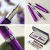 """Light light purple 11-1029 with 6/30( soil) 21:00 beginning to sell 14-karat gold fountain pen transparence profit """"droop wisteria"""" noble family, a mystery-like image"""