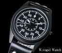 【2319】【WANCHER/ワンチャー】腕時計W.vogel ウオッチ ドイツ 空軍パイロット フリーガー大戦略モデル 防水 日本製ムーブメントミリ…