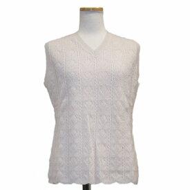 【OUTLET】カシミヤ100%V首ノースリーブセーター(100G-022) カシミヤセーター カシミア カシミヤ セーター