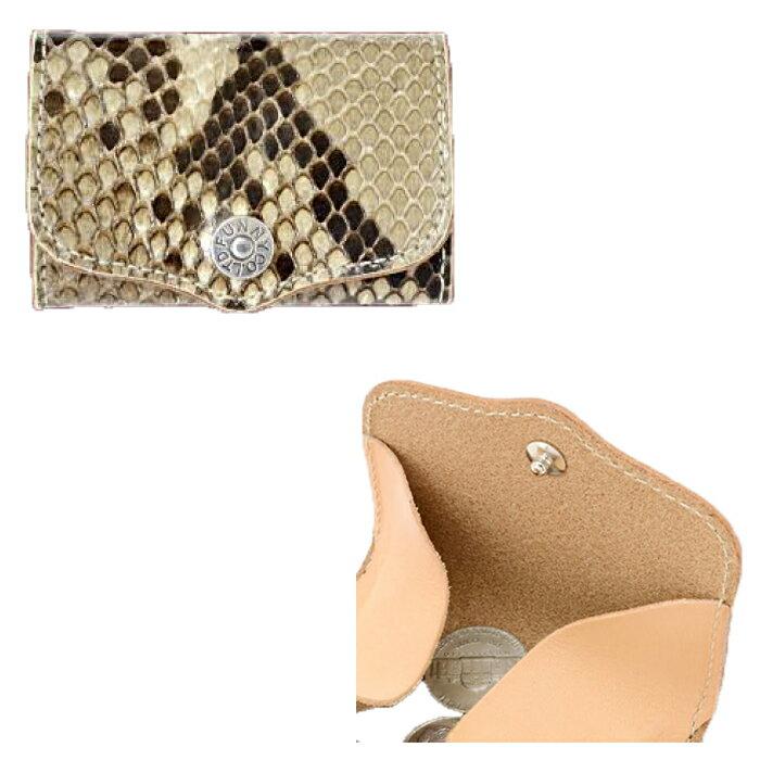 ボックスコインケース レザー 財布 蛇革 パイソンレザー【FUNNY/ファニー】【送料無料】
