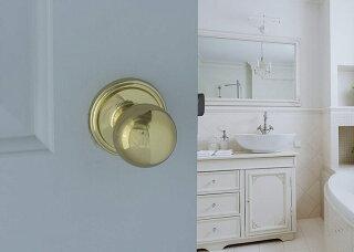 ドアノブセットCopperCreekドアノブ取っ手交換BK2030PBゴールド出入り口ドア用鍵付きドア