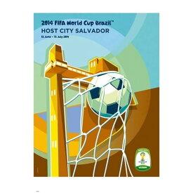 2014 FIFA ワールドカップブラジル オフィシャルライセンス ポスター ホストシティ 開催都市ポスター サルヴァドール 【正規オフィシャルグッズ】