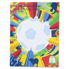 2014 FIFA ワールドカップ ブラジル オフィシャルライセンス ポスター ホストシティ 開催都市ポスター サンパウロ Sao Paulo 【正規オフィシャルグッズ】