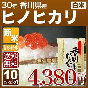 新米 30年産 香川 ヒノヒカリ 米 10kg(5kg×2)送料無料 (白米/精米) 内祝いやお返し、ギフトに熨斗(のし)名入れ (お歳暮 歳暮 御歳暮)可