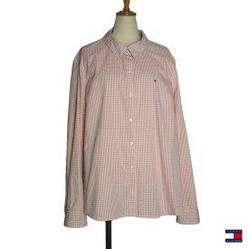【中古】TOMMY HILFIGER チェック柄 シャツ トミーヒルフィガー レディース XXL 古着 長袖 大きいサイズ