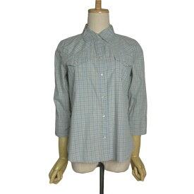【中古】OLD NAVY ウエスタンシャツ 七分袖 レディースS 古着 オールドネイビー カウボーイ シャツ