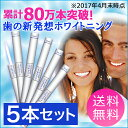 【送料無料】5本セット[歯のホワイトニング ペン型] ナチュラルホワイト ラピッドホワイト ブライトスティック】 [あす楽 対応]