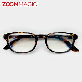 \全品ポイント5倍/zoom magic 遠近両用 老眼鏡 度数1.5 2.0 2.5 3.0 【 Nデミ 】 シニアグラス リーディンググラス おしゃれ 老眼鏡 男性 女性