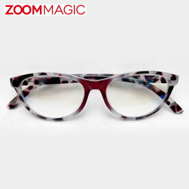 zoom magic 遠近両用 老眼鏡 度数1.5 2.0 2.5 3.0 【 オーバル カモフラ 】 シニアグラス リーディンググラス おしゃれ 老眼鏡 男性 女性