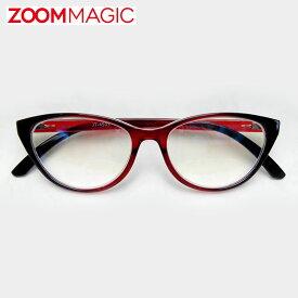 \全品ポイント5倍/zoom magic 遠近両用 老眼鏡 サングラス 度数1.5 2.0 2.5 3.0 【 フォックス シャイン 】 シニアグラス リーディンググラス おしゃれ 老眼鏡 男性 女性