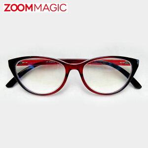 \全品ポイント2倍/zoom magic 遠近両用 老眼鏡 サングラス 度数1.5 2.0 2.5 3.0 【 フォックス シャイン 】 シニアグラス リーディンググラス おしゃれ 老眼鏡 男性 女性