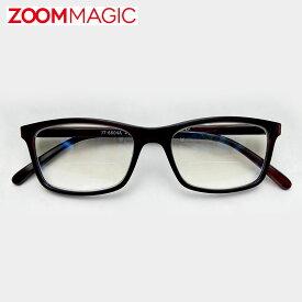\全品ポイント5倍/zoom magic 遠近両用 老眼鏡 サングラス 度数1.5 2.0 2.5 3.0 【 ウエリントン B 】 シニアグラス リーディンググラス おしゃれ 老眼鏡 男性 女性