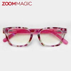 \全品ポイント5倍/zoom magic 遠近両用 老眼鏡 度数1.5 2.0 2.5 3.0 【 フラワーP 】 シニアグラス リーディンググラス おしゃれ 老眼鏡 男性 女性