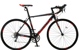 ロードバイク スタンド無し ライト 自転車 700C CANOVER カノーバー CAR-011 ZENOS(ゼノス)LEDフロントライト付