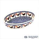 [Zaklady Ceramiczne Boleslawiec/ザクワディ ボレスワヴィエツ陶器]グラタン皿(オーバル)-1090