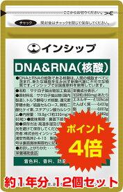 【送料無料!ポイント4倍!】 DNA&RNA(核酸) 12個セット 体内サイクルのサポートに!健康維持の強い味方 約12ヶ月分サプリメント DNA&RNA(核酸) 12個セット インシップ