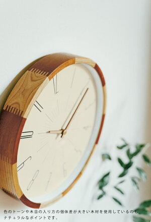【インターフォルム公式】【送料無料】Boudryブードリー掛け時計|時計おしゃれお洒落かわいいインテリアステップムーブメント壁時計壁掛け時計北欧シンプルナチュラルリビングダイニング寝室一人暮らしデザインギフトカフェ木木製フレーム