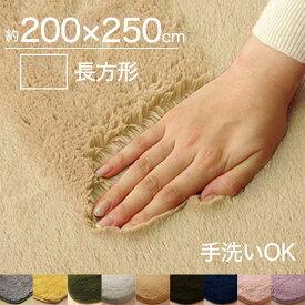 ラグ 洗える 北欧 おしゃれ 2畳 200×250cm マイクロファイバーラグウォッシャブル ホットカーペット対応 床暖対応 送料無料