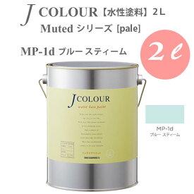 ターナー色彩 壁紙に塗れる水性塗料 Jカラー Muted シリーズ pale MP-1d ブルー スティーム 2L