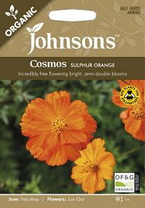 【輸入種子】Johnsons Seeds ORGANIC Cosmos SULPHUR ORANGE オーガニック コスモス サルファー・オレンジ ジョンソンズシード
