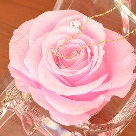 6月 誕生石 ムーンストーン ネックレス ピンク バラ シンデレラの靴 ギフトセット スワロフスキー 付 彼女 誕生日 [ 誕生日 プレゼント ギフト ジュエリー アクセサリー ]