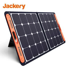 Jackery SolarSaga 100 ソーラーパネル 100W ソーラーチャージャー折りたたみ式 DC出力 USB出力 スマホやタブレット 高変換効率 超薄型 軽量 コンパクト 単結晶 防災 IP65防水 (100W 18V 5.55A) 冒険に限りないパワーを