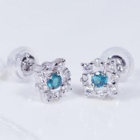 グランディディエライト ダイヤ ピアス プラチナ ダイヤ取り巻き IA2287 希少宝石 特別奉仕品