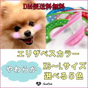 【DM便送料無料】【(Clear Dot)エリザベスカラー】犬用/猫用ソフトエリザベス/プロテクター/(手術後/噛み/傷口保護/皮膚/アレルギー)【犬 服】