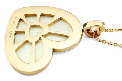 チェーンSET!18金PGで甘く〜気軽に楽しめる真珠&ダイヤバチカンにも注目ダイヤモンドラインと側面もハート型【特別価品】【送料無料】【ラッピング・ケース付き】【あす着・関東限定】