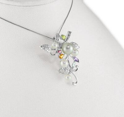天然真珠が輝くナチュラル(天然)な美しさを堪能!気品と個性が輝きます!☆大変綺麗なお品です!和珠8ミリ【あす着・関東限定】【RCP】【あこや本真珠】【本格ジュエリー】