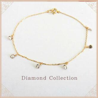 K18 천연 다이아몬드 팔찌 6알갱이 디자인 다이아몬드 0.6 ct Solitaire collection K18 옐로우 골드 K18 핑크 골드 K18 화이트 골드