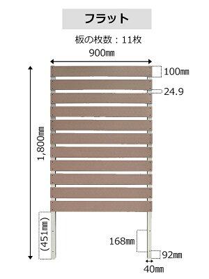 【予約販売6/17以降発送】スタイリッシュフェンス1800×900mmwithプランターフラット/アーバン選べる2タイプ(aks-10810-10834-10841)フェンスプランター目隠し園芸ガーデニング人工木ボーダ横しま