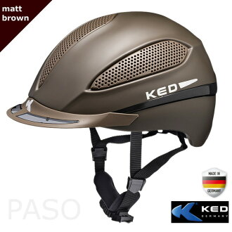 승마용 헬멧 KED PASO(갈색 매트 브라운) 승마 헬멧 모자 유럽 안전기준 인증 사이즈 조정 이너 세탁가능 LED 안전 라이트 승마 용품
