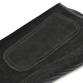 乗馬用品Klausハーフチャップス本革スエードKB(黒ブラック)本皮レザー