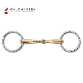 【送料無料】シプリウム水勒銜 WBC1 銅含有 125mm/135mm/145mm | ハミ 銜 はみ 太さ18mm リング70mm ビット 金色 馬 乗馬 乗馬用 乗馬用品 馬具