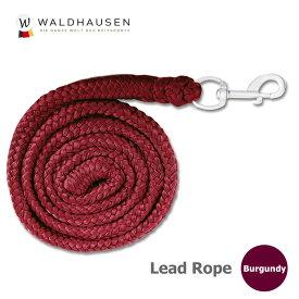 Waldhausen シンプル・リードロープ WRE6(バーガンディ) 2m | ロープ 赤茶 臙脂色 ワインレッド 曳き手 引手 馬具 馬 馬用 乗馬 乗馬用 乗馬用品