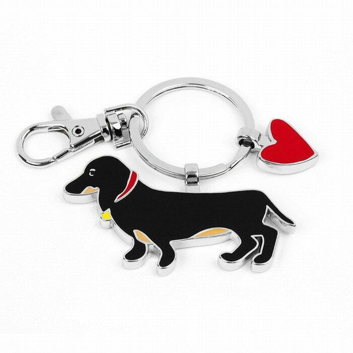 【送料無料】Marc Tetro ダックスフンド キーリング   キーホルダー キーチェーン マークテトロ かわいい 犬 デザイン 犬デザイン ダックスフント ダックス ダックス・フンド ミニチュア ダックス