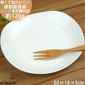 PET樹脂 楕円 プレート L 20×18cm ホワイト 白 皿 子供 介護用 食器 軽量 軽い 割れにくい 日本製 樹脂製 国産 業務用 食洗機対応 即納 即日配送 あす楽対応 ラッピング不可