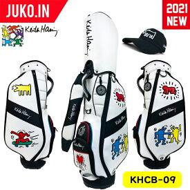 予約受付中!KHCB-09 2021 NEW モデル キースヘリング ゴルフ キャディバッグ キャップ付き シーズン4 大人気モデル グルッペ JUKO.IN