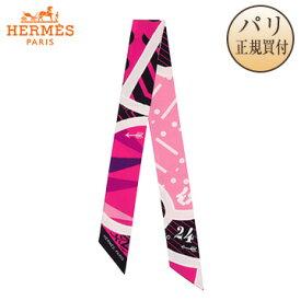 HERMES新品 HERMES スカーフ ツイリー シルク・ゲーム 【2019年春夏コレクション】 Jeu de Soie rose vif/noir/rose pale [フランス・ファッション・スカーフ] H063229S 07