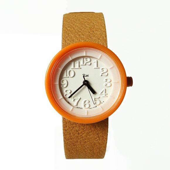 Riki(リキ)腕時計 小さな壁時計(オレンジ・革バンド)akqk026 ペアウォッチ アルバ SEIKOALBA SEIKO ALBA 腕時計 セイコー アルバ 時計 リキ ワタナベ コレクション RIKI WATANABE COLLECTION レディース メンズ