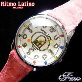 【Ritmo Latino腕時計フィーノ(ホワイト/バンド:ピンク)レギュラーサイズ】圧倒的な「存在感」・「楽しさ」「遊び心」・「情熱」を感じさせてくれます。【リトモラティーノ】