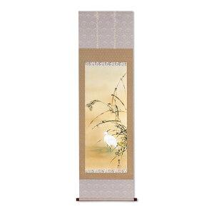 複製掛軸 酒井抱一 「十二か月花鳥図」 十一月 「芦に白鷺図」
