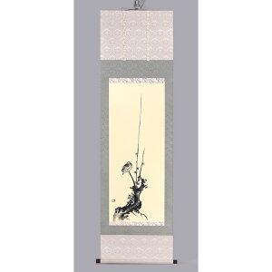 宮本武蔵 「紅梅鳩図」 複製 掛軸