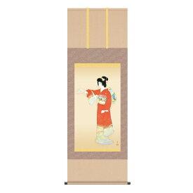 上村松園 作品 「序の舞」 高級掛軸 インテリア